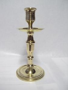 2931  Koperen Kandelaar  16 cm
