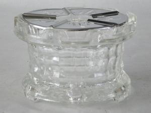 3055  Glazen Theelicht met de uitstraling van kristal