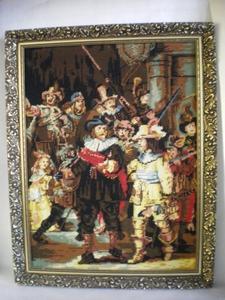 3020  Geborduurd schilderij in lijst