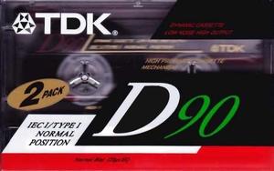 39  TDK D90 2PK (nieuw)  2 Delig