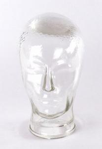 2562  Persglazen kop voor hoed of koptelefoon - jaren 60-70  +/-  25 cm