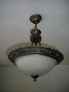 473  Klassiek hanglampje Messing