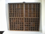 3021  Antieke houten letterbak
